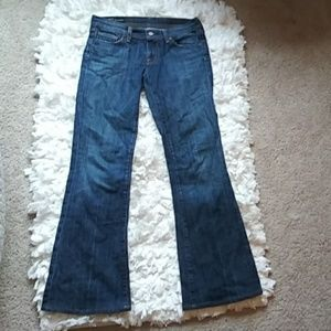 Citizens of humanity Low waist flare jeans disstre